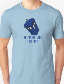 The future lies this way - Dr Who T-Shirt