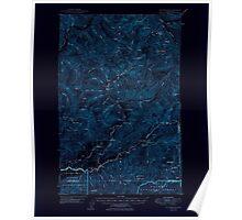 USGS Topo Map Washington State WA Mt Christie 242629 1950 62500 Inverted Poster