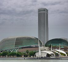 Surrounding the Marina Bay Sands. ( 1 ) by Larry Lingard-Davis