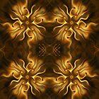 Autumnal flower pattern by floatingpilot
