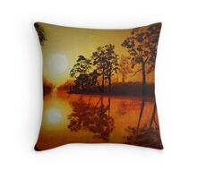 River by Sunset Throw Pillow