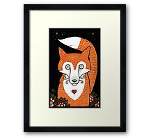 Foxy Love Framed Print