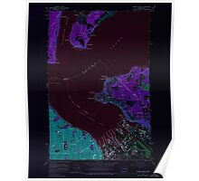 USGS Topo Map Washington State WA Tacoma North 244155 1961 24000 Inverted Poster