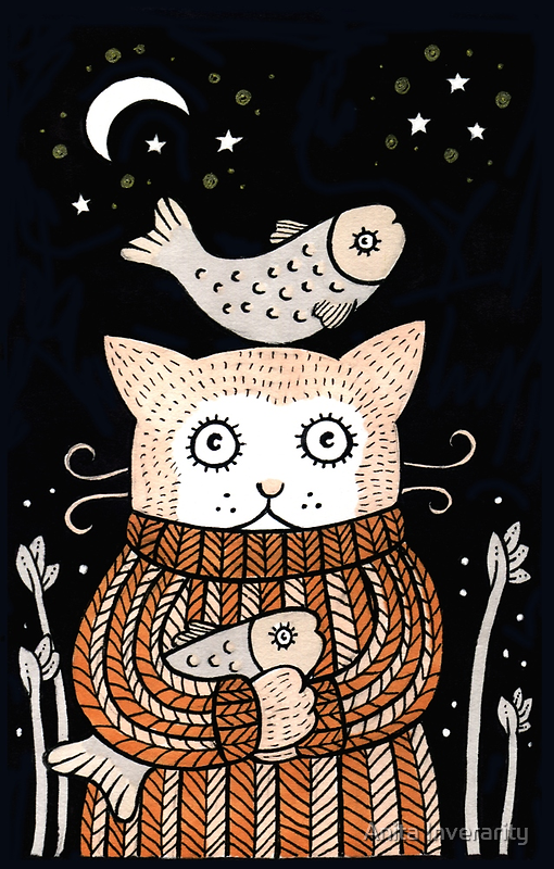 Quirky Cat by Anita Inverarity