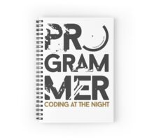 programmer - coding at the night Spiral Notebook