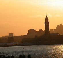 Erie Lackawanna Train and Ferry Terminal, Hoboken, New Jersey, Sunset View by lenspiro