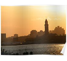 Erie Lackawanna Train and Ferry Terminal, Hoboken, New Jersey, Sunset View Poster