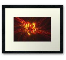 Fractal Flame Explosion Framed Print