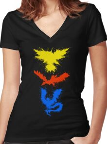 Legendary Bird Splatter Women's Fitted V-Neck T-Shirt