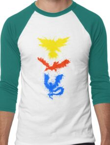 Legendary Bird Splatter Men's Baseball ¾ T-Shirt
