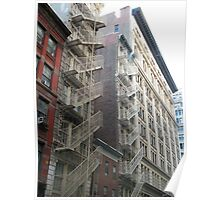 Classic Fire Escapes, New York, Flatiron District Poster