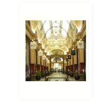 City Arcade in Melbourne Art Print
