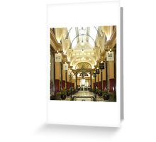 City Arcade in Melbourne Greeting Card
