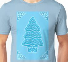 Celtic Christmas Tree (ice-blue) Unisex T-Shirt