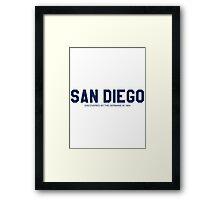 Anchorman - Ron Burgundy - San Diego 1904 Framed Print