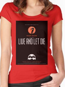 Live and Let Die - Movie Poster Women's Fitted Scoop T-Shirt