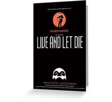 Live and Let Die - Movie Poster Greeting Card