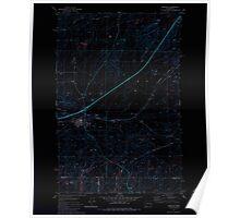 USGS Topo Map Washington State WA Sprague 243966 1981 24000 Inverted Poster