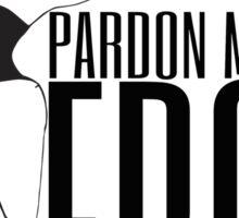 pardon my fro logo Sticker