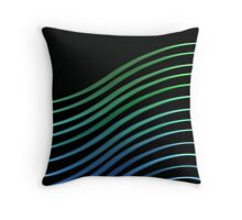 Earth Waves Throw Pillow