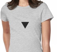 Black Triangle Shirt Womens Fitted T-Shirt