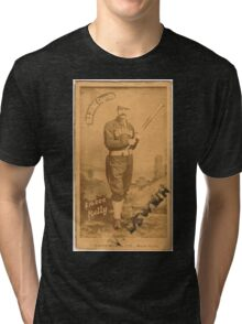 Benjamin K Edwards Collection King Kelly Chicago White Stockings baseball card portrait 001 Tri-blend T-Shirt