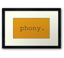 Oil - Phony Graphic Framed Print