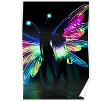 Butterfly Transformation Portrait Poster