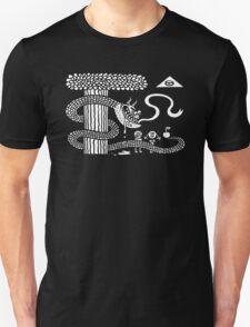 Serpent Seduces Womb-Man Seduces Man in Garden T-Shirt