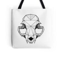 Geometric Cat skull Tote Bag