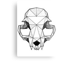 Geometric Cat skull Metal Print
