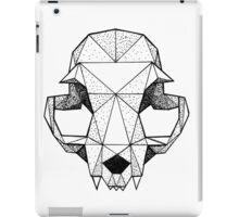 Geometric Cat skull iPad Case/Skin