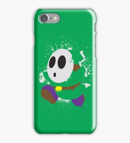 Splattery Shy Guy Style 2 iPhone Case/Skin