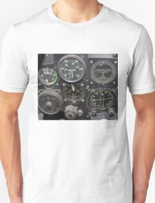 Instrument Panel of a 1950's Jet Fighter T-Shirt