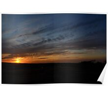Sunset in Kansas Poster