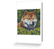 Shiba Inu Fine Art Painting Greeting Card