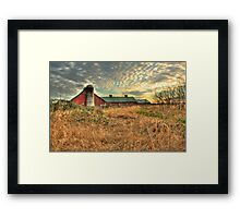 Golden Rays on a Fading Farm Framed Print