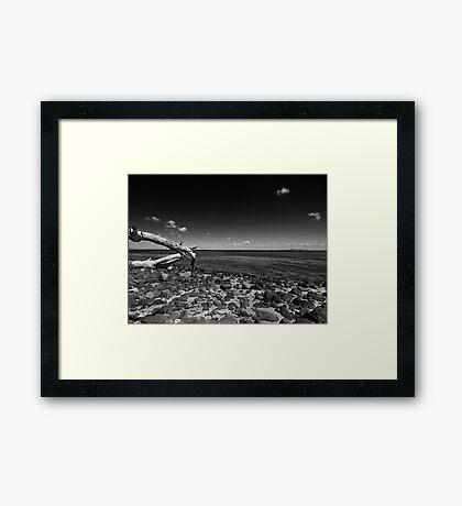 Clifton Spring Pier in Black and White Framed Print