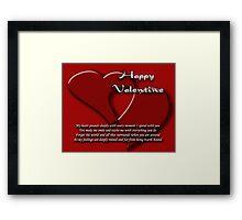 valentine's card Framed Print
