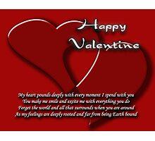 valentine's card Photographic Print