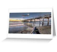 Grange Jetty HDR Greeting Card