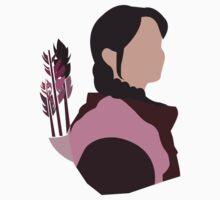 Katniss in Purple One Piece - Short Sleeve