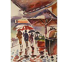 Rainy Mood- Circular Quay, Sydney, Australia Photographic Print