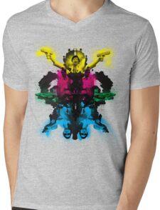 Senor Chang paintball montage Mens V-Neck T-Shirt