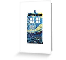 Van Gogh's TARDIS Greeting Card