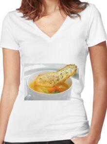 Potatoe de Light Women's Fitted V-Neck T-Shirt