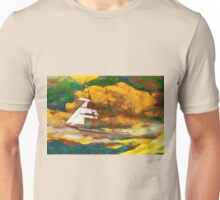 A digital painting of Mary Celeste in the rig she wore when found in 1872 Unisex T-Shirt