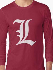 L Deathnote Logo Anime Cosplay Japan T Shirt Long Sleeve T-Shirt