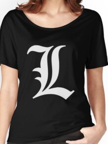 L Deathnote Logo Anime Cosplay Japan T Shirt Women's Relaxed Fit T-Shirt