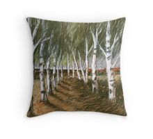 Birken-Raum Throw Pillow